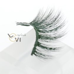 Beauty Products Soft Silk Artificial Eyelashes, Synthetic Fiber Individual Strip Eyelashes (M6D-011)