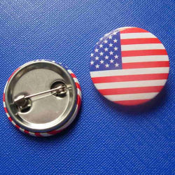 Flag Design Tin Badge, National Printing Emblem (GZHY-TB-004)