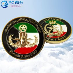 China Custom Plating Gold Police Uniform Badge Kuwait Military Tactical Gear PVC Rubber Patch Supplies Personalized Army Award Challenge Coins Metal Art Crafts