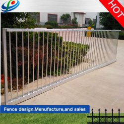 Wrought Iron Panel Industrial Usage Constrution Site Galvanized Palisade Steel Garden Aluminum Fence