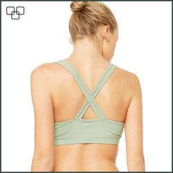 Wholesale Top Quality Custom Brand Strip Sports Bra
