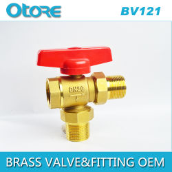 Brass Angle Ball Valve Butterfly Handle
