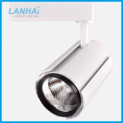 10W 20W 30W White Black Commercial Spot Light COB LED Track Rail Lamp