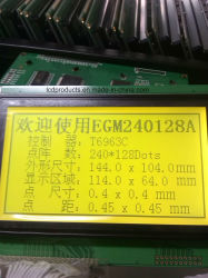 Graphic LCD Module Display 240*128, Stn Yellow-Green T6963c