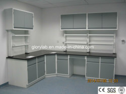 Steel Lab Furniture With Wall Mounted Cabinet And Ce Certification Jh Sl013