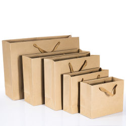 Eco-Friendly Kraft Paper Bag Universal Garment Shopping Bag Custom Logo Printing Gift Bag