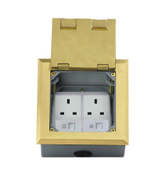 IEC60884 Standard Audio Visual Sockets/Waterproof Floor Socket with Cover