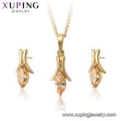 Gold Plated Wholesale Costume Statement Pendants Necklace and Earrings  Womens Wedding Zircon Crystal Clover Fashion Jewelry 8b874d23e40a