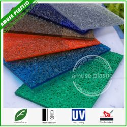 cheapest colored lexon plastic glass big diamond embossed pc sheets - Colored Glass Sheets