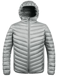 Men's Winter Hooded Packable Down Jacket