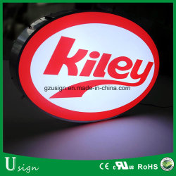Outdoor Advertising Light Box Oval Shape Wall Mounted Light Box LED Logo