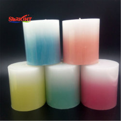 Colorful Gradient Pillar Candle in Large Bulks