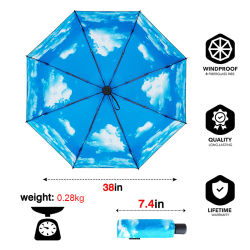 Upgraded 8 Ribs Mini Portable Sun&Rain Lightweight Windproof Umbrella - Compact Parasol Outdoor Travel Umbrella for Men Women Kids