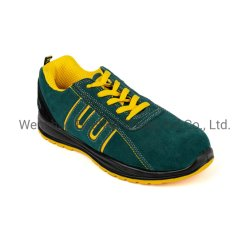 Green Suede Women Leather Sport Working Safety Footwear Boots Shoes