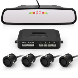 Car Car Parking Assistance System with 4 Parking Sensors Wireless Rear View Mirror LCD Display Backup