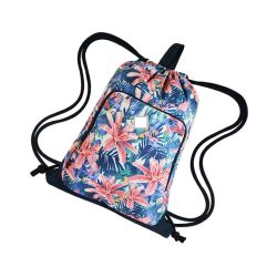 Fashion Print Polyester Pull Rope Sports Drawstring Bag