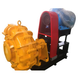 Electric Motor Coal Mine Rubber Lined Slurry Pump Machine