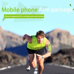 """New Sport Running Arm Band Phone Case Jogging Package Pouch Gym Armband Universal Waterproof for 6"""" Mobile Phone Wallet Pouch"""