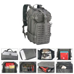Wholesale 3 Day Small Assault Backpack Waterproof USB Camping Traveling Bags