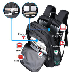 Sports Camping Bags Smart Backpack Computer Bag Rucksack Laptop Backpack with USB Charging and Headphone Port Soft Backpack