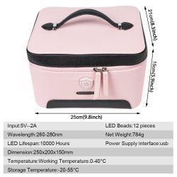 Household Bra Underwear Baby Toy Disinfection Box Light Lamp LED UVC Sanitizer Bag 12 Lamps Portable UV Sterilizer Bag