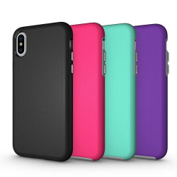 Wholesale Combo for iPhone X Shockproof Case Cover 2 in 1 TPU with PC Case, Luxury Hybrid Phone Case for iPhone X