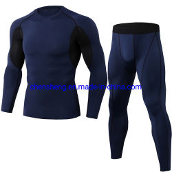 Men's Compression Quick Dry Long Sleeves Clothing Fitness Apparel Tights Gym Fitness Suit for Sport