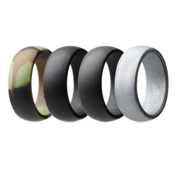 8mm Wide Flexible Waterproof Men Silicone Ring for Sports Finger Rings