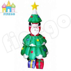 180cm 6ft high polyester christmas inflatable santa tree - Polytree Christmas Tree