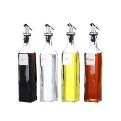 4sets Metal Label Glass Bottle Kitchenware of Glassware