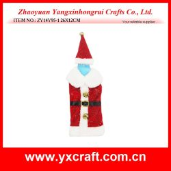 Christmas Decoration (ZY14Y95-1) Christmas Gift Wrap Wine Bag