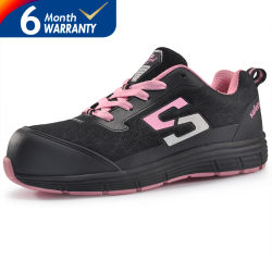 Breathable and Deodorant Fashion Casual Women Sports Safety Shoes