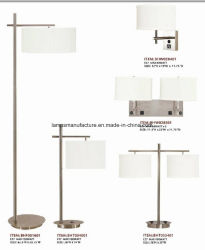 SAA Ce Saso UL cUL Hotel Lamp Set Brush Nickel with USB Power Outlet