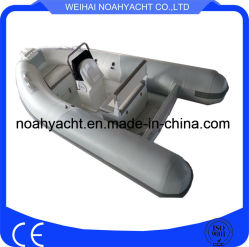 New Design Marine Aluminum Rigid Inflatable Boat 12FT Aluminum Rib with PVC/Hypalon Tube (CE)