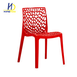 High Quality Spider Web Armless PP Plastic Stacking Outdoor Garden Chair