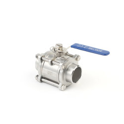 Stainless Steel 3PC Ball Valve NPT SS304/Wcb 1000wog