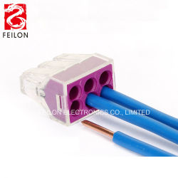 junction box connectors factory, junction box connectors factoryfactory directly sale pct 106 push in wire wiring connector for junction box 6 pin