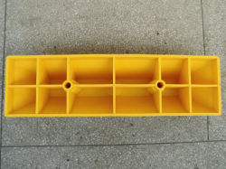 Yellow or Plastic Plastic Wheel Stopper Car Parking Stop
