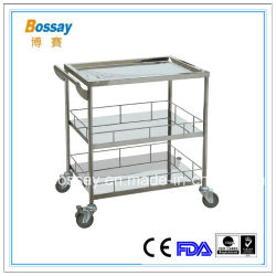 304# Stainless Steel Instrument Medical Trolley
