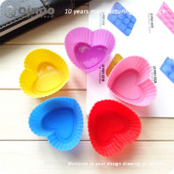 Single Heart Sar Shaped Silicone Baking Pan for Oven Dishwasher
