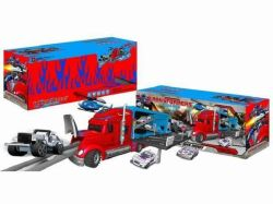 Die-Cast Parking Lot Set Toy F/W Drag Head Car/with Light/Music/Use 3*AA
