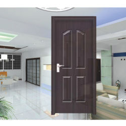 Wood Interior Interior Solid Wooden Panel PVC Door (HD-8011)