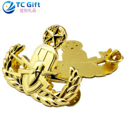 Factory Custom Detective Us Police Badge 3D Logo Military Bottle Opener Air Force Aircraft Model Souvenir Badges Metal Art Crafts School Sport Award Lapel Pins