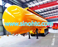 4 axles tank semi trailer, 4 axle slurry tank trailer