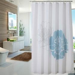 100%Polyester Printed Waterproof Bathroom Shower Curtain (01S0012)
