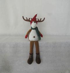 "19""H Camo Christmas Moose and Black Bear Shelfsitter, 2 Asst"