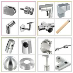 Stainless Steel Balustrade Support / Handrail Bracket / Railing Fitting / Adjustable Saddle