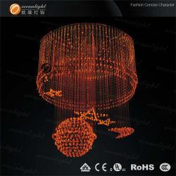 Wholesale Colorful Beautiful Luxury Cheap RGB Fiber Optic Chandelier Lighting Om060