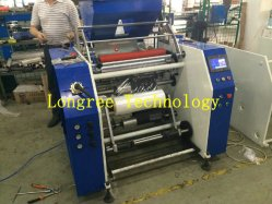 PE Stretch Film Full-Automatical Rewinder with Cutter and Loading and Unloading Devices