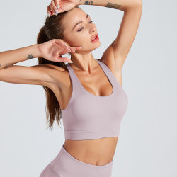 Women's Sports Bra Medium Support Cross Back Removable Cups for Yoga Gym Workout Running